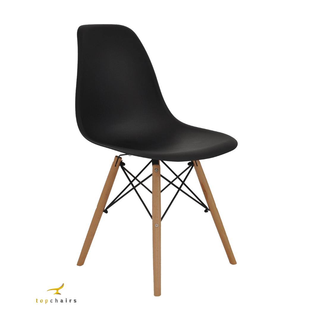 Cadeira Eiffel Wood Preta