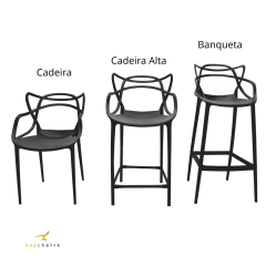 Cadeira Alta Allegra Preta