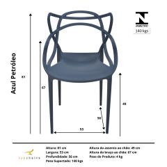 Cadeira Allegra Azul Petróleo