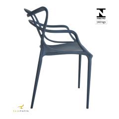 Cadeira Allegra Azul Petróleo - Kit com 6