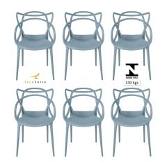 Cadeira Allegra Cinza - Kit com 6