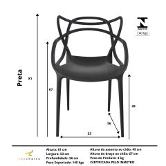 Cadeira Allegra - kit com 4