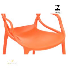 Cadeira Allegra Laranja - Kit com 4