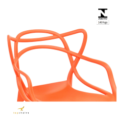 Cadeira Allegra Laranja - Kit com 6