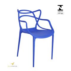 Cadeira Allegra Masters Azul Bic - Kit com 4