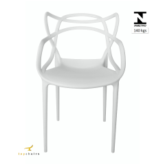 Cadeira Allegra Masters Branca - Kit com 4