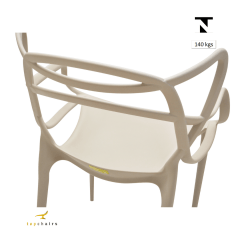 Cadeira Allegra Nude - Kit com 4