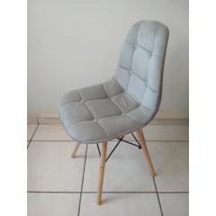 Cadeira Eiffel Wood Botone - Cinza