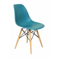 Cadeira Eiffel Wood Turquesa