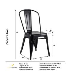 Cadeira Tolix Iron Preta